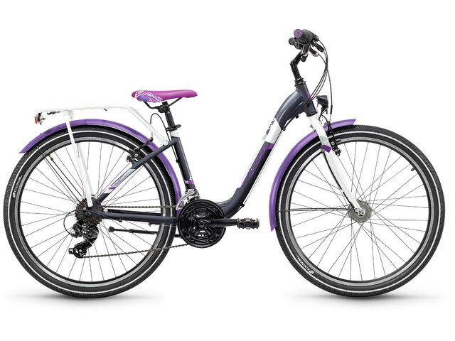 s'cool chiX 26 21-S - Vélo junior Enfant - Steel gris/violet
